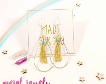 Magical Energy Earrings - metal tassels