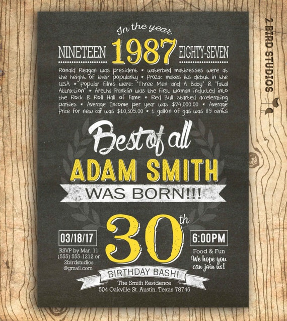 30th birthday invitation Surprise 30th birthday invite DIY – Surprise 30th Birthday Invites