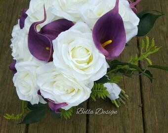 White Garden Rose Boutonniere fake boutonniere | etsy
