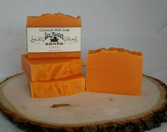 Hand Crafted CARROT Coconut Milk Soap