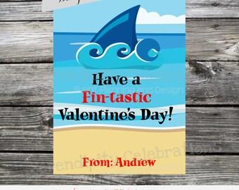 Printable Valentine Cards, Shark Valentine's Day Cards, Classroom Cards, Valentine's Day,  Kids Valentine Cards, DIY Valentine's Cards