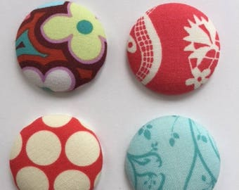Fabric, Magnet, Amy Butler Fabric, Creative Magnets, Cool Magnet, Refrigerator Magnets, Magnetic Gifts, Magnet Gift, Gift Magnets