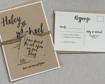Simple invitations Etsy