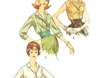 Simplicity 3559 Misses' Vintage 1960s Blouses with Sleeve Options Sewing Pattern