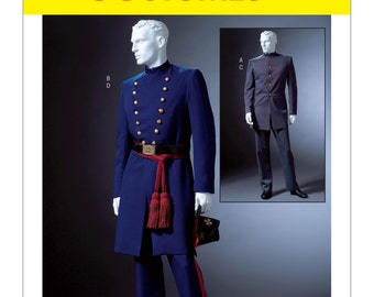 McCall's M4745 Men's Civil War Coat and Trousers Costume Sewing Pattern