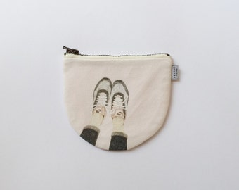 Funny Legs Mini Pouch - Illustrated Coin Purse - Funny Legs by Daniela Dahf