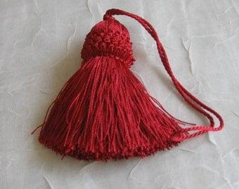 """Red Armoire / Key Tassel - 8"""" Long"""