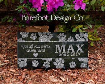 Granite Personalized Dog Pet Memorial Stone