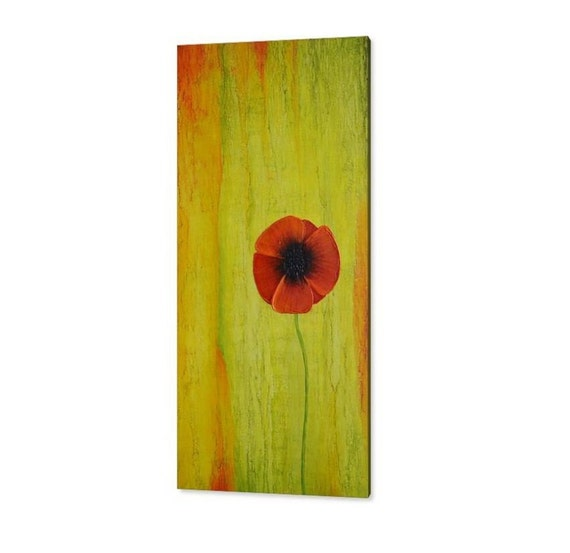 Cute Red Poppies Canvas Wall Art Images - Wall Art Design ...
