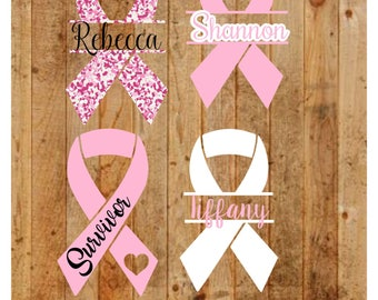 Breast Cancer Awareness Decal, Breast Cancer Awareness Decal, Breast Cancere Decal, Personalized Breast Cancer Awareness ribbon,