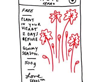 Hope Seed Packet Illustration