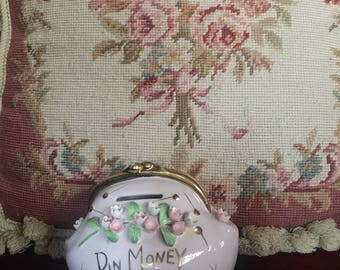 Shabby Chic Country Roses Purse Bank