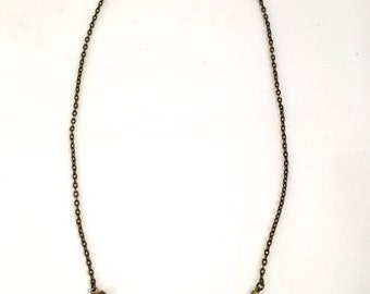 Simple Snake Bone Necklace