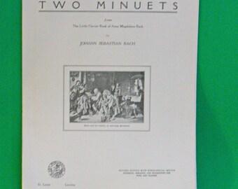 DMu2307 - 1940 Art Publication Society Teacher's Library Sheet Music, Issue #283, Bach