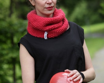 Snood | MOUNT COOK | ecological pure new wool | alpaca | red | Made in Germany  | SALE -30%