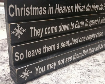 Christmas In Heaven What Do They Do Block Sign Christmas Gift Heaven Gift Loss Sign Heaven With Chair Heaven Sign