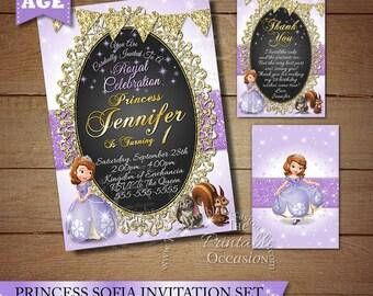 Sofia the First Birthday Invitation, Princess Photo Invitation, Sofia the First Birthday Party, Princess Invitation, Sofia Birthday Invite