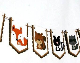 Woodland Animals  Banner / Woodland Critters Banner