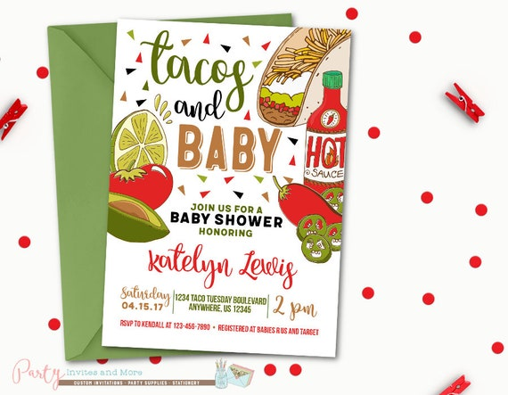 Taco Baby Shower Invitation Taco Invitation Taco Party