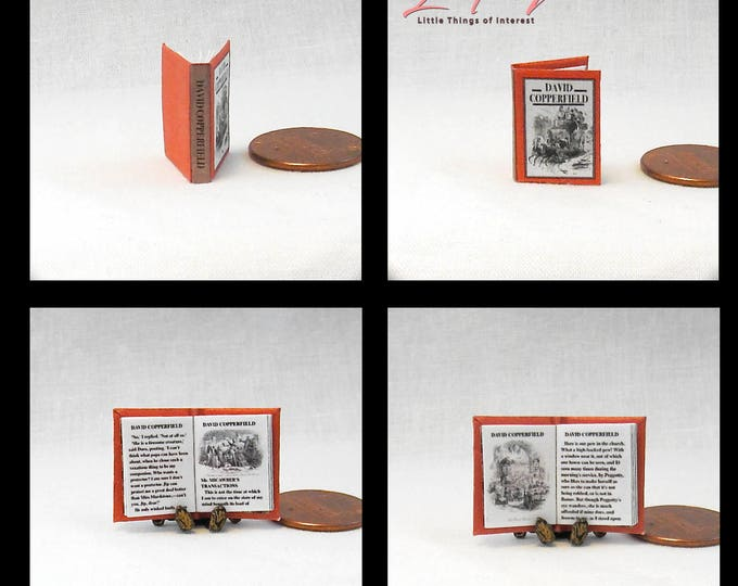 DAVID COPPERFIELD 12th Scale Openable Dollhouse Miniature Book Novel - Printable Download Charles Dickens Novel Adventure Boy Life England