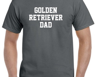 Golden Retriever Dad Shirt Tshirt Gift
