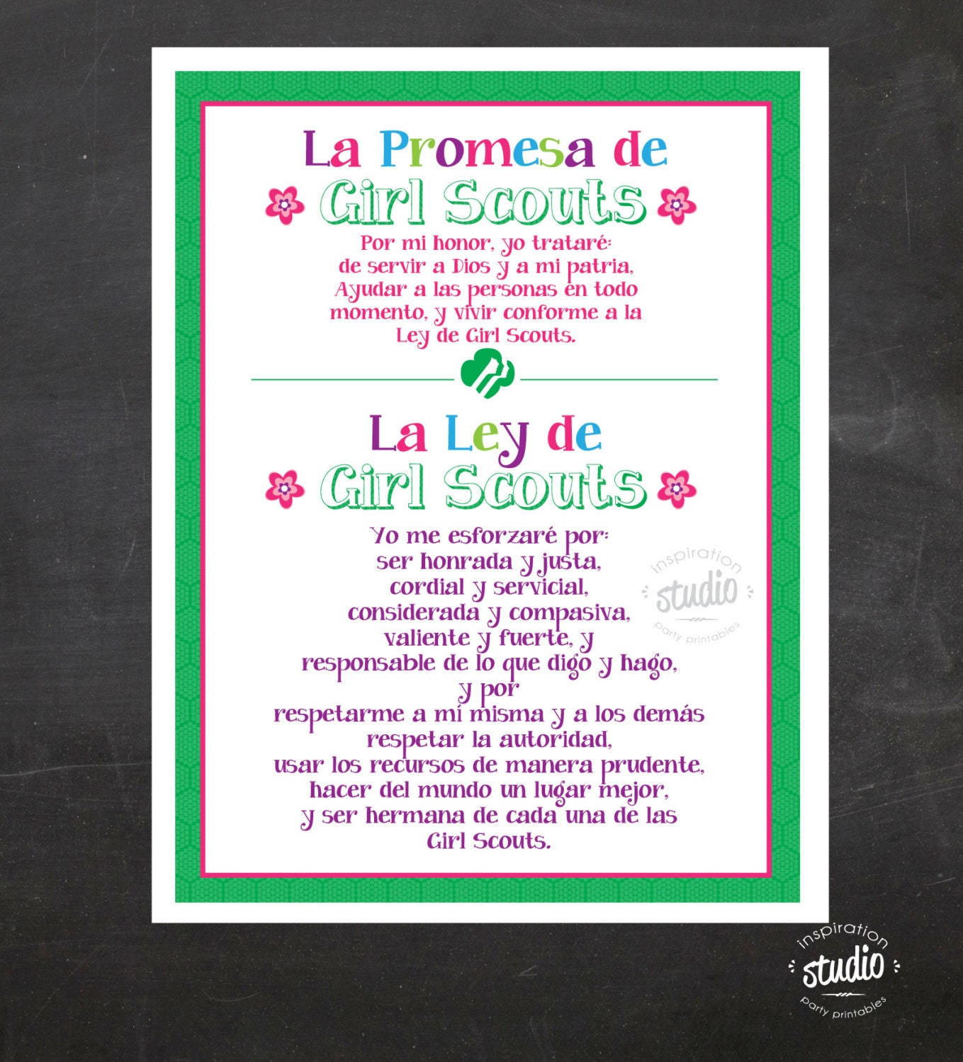 Crafty image for girl scout law printable