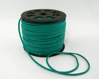 Green Faux Suede Cord 20 Feet USA Seller