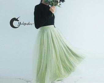 Sage Green Tutu Skirt- Soft Tulle Skirt- Adult Tutu