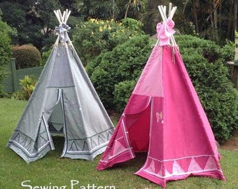 Teepee SEWING PATTERN, tipi, tepee photo prop. These 2 Awesome Tee Pee tents were made with my pattern