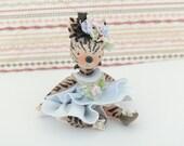 Zebra Miniature Figurine Collectible Doll