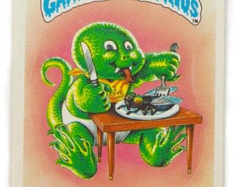 Vintage 80s Garbage Pail Kids Lizard Liz 38b Series 1 Sticker Trading Card