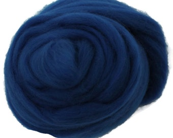 Royal Blue Merino Roving Wool 1/4oz,  1/2oz or 1 oz
