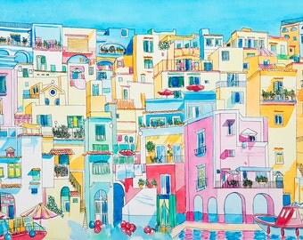 Procida Original Painting: Procida, Italy.