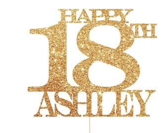 18th Birthday Cake Topper, 18th Birthday Decorations, 18th Birthday Party, 18th Cake Topper, 18 Cake Topper