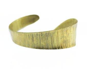 Chunky Gold Cuff Bracelet, Wide Brass Cuff Bracelet, Wide Gold Cuff Bracelet, Asymmetrical Gold Cuff Bracelet