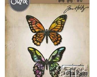 Detailed Butterflies - Tim Holtz  Sizzix Thinlits Die Set 4PK