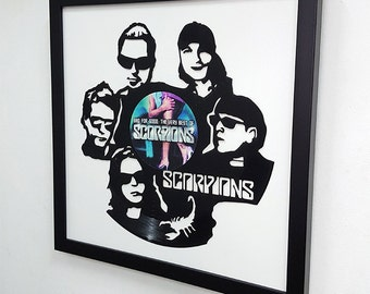 Scorpions Wall Art -Vinyl LP Record Clock or Framed -Great Rock'n'Roll Gift, Scorpions band