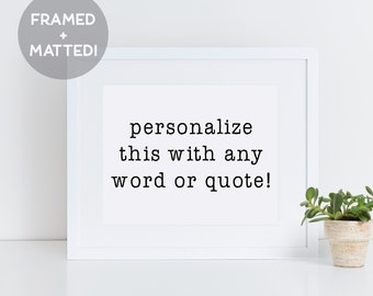 Custom Framed Print, Custom Sign, Personalized Gift, Custom Coordinates, Wall Art Prints, Custom Print Quote, Christmas Gift