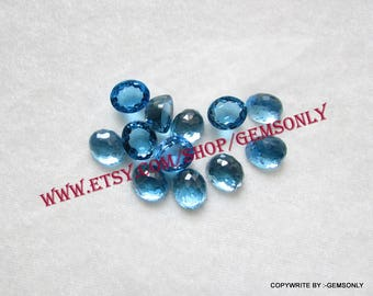 9cts natural SWISS BLUE TOPAZ oval 10x12mm rosecut high dome oval rosecut blue topaz swiss blue 10x12mm blue topaz oval topaz deep blue