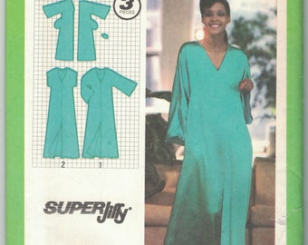 Simplicity 9246 Caftan Size Small 10 12 Super Jiffy Pattern Vintage 1970s Uncut