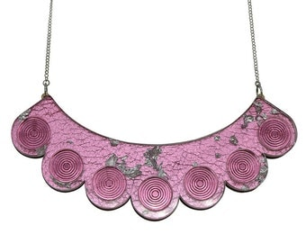 Ripples & Reflections Scalloped Bib Necklace