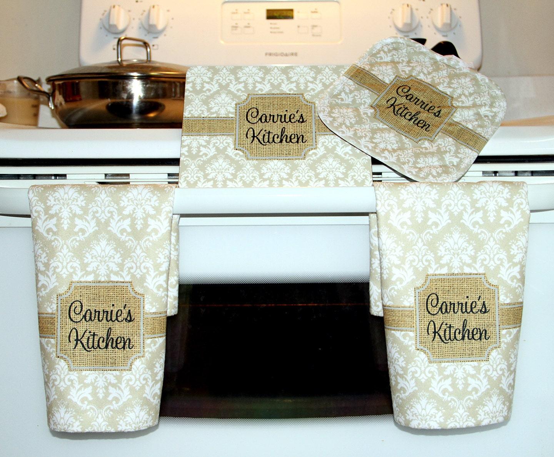 Cooking Gift Set Kitchen Hand Towels Trivet Pot Holder