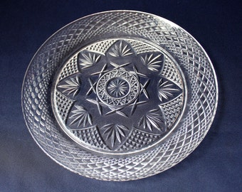 """Cristal D'Arques Durand Crystal Clear Glass Dinner Plate 10"""""""