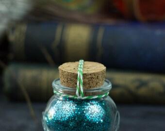 Monk's Ki Blue Pixie Glitter Bottles For Art, Craft & Shenanigans