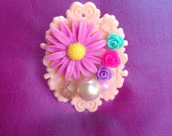 Flowers Everywhere Kawaii Statement Ring, sweet lolita, girly, chunky, fairy kei, gyaru, Harajuku