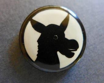 Vintage 1960s Democratic Party Campaign Button / Democratic Party Donkey