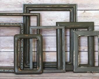 Shabby Chic Decor,  Rustic Wedding, Farmhouse Style, Rustic Decor, Picture Frames, Picture Frame Set, Anniversary Gift, Woodland Nursery