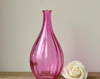 Decorative Bright Pink Bottle