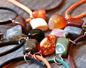 Natural Stone Necklaces, Healing Crystals and Stones, Semi-precious Stone Necklace, Spiritual Jewelry, Healing Jewelry,Natural Stone Jewelry