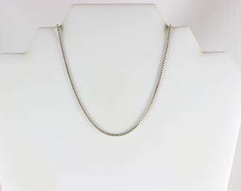 Sterling Silver Box Chain Necklace 20 1/4 inch chain